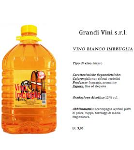 VINO BIANCO IMBRUGLIA PET LT 3